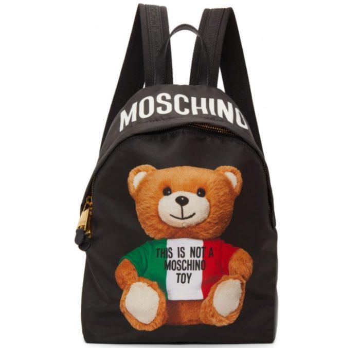 史上最可爱!Moschino意大利泰迪熊双肩包 760加元,原价 905加元,包邮