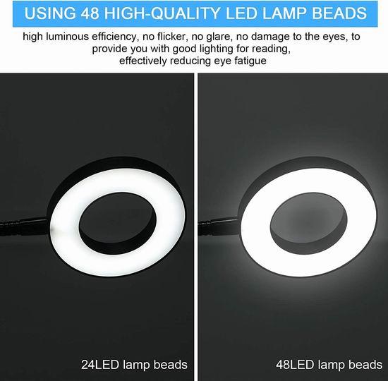 历史新低!Anpro 48LED 夹式护眼台灯/床头灯/夜灯 10.72加元!