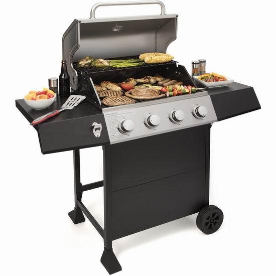 历史新低!Cuisinart 美膳雅 CGG-7400 4炉头 全尺寸 燃气BBQ烧烤炉5折 299.99加元包邮!