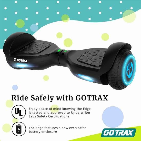 历史新低!GOTRAX Edge 双电机 体感平衡车5折 119.99加元包邮!3色可选!