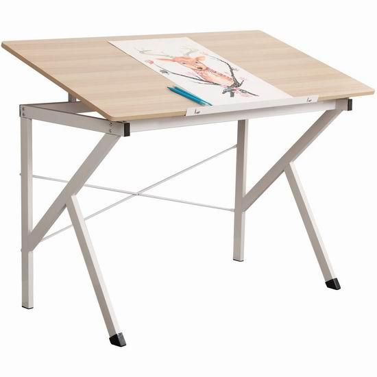 历史新低!DlandHome 47英寸 二合一 可倾斜绘画桌/电脑桌4.5折 58.65加元限量特卖并包邮!2色可选!