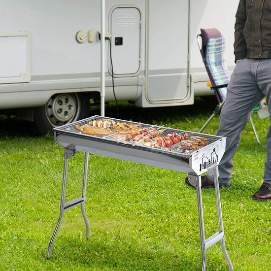 Outsunny 29英寸 不锈钢 中式碳烧BBQ烧烤炉4.7折 65.99加元包邮!