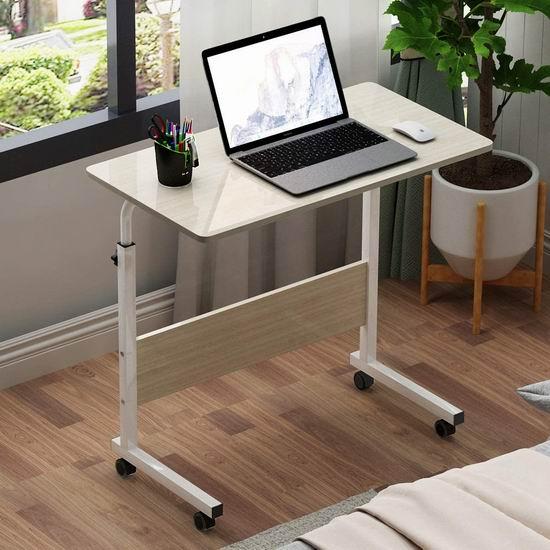 拼手速!sogesfurniture 31.4英寸 便携式可调高 床边/沙发电脑桌4.1折 29加元限量特卖并包邮!