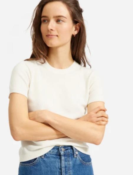 Everlane 夏季服饰2.8折起清仓特卖+包邮+无关税:T恤14加元、紧身裤 29加元、羊绒毛衣 51加元