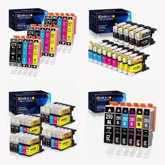 金盒头条:精选多款 E-Z Ink Canon/Brother/HP 打印机兼容墨盒、粉盒7.5折起,低至10.39加元!