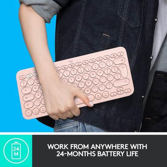 历史新低!Logitech 罗技 K380 高颜值 多设备通用蓝牙键盘 39.99加元包邮!3色可选!粉红控必备!