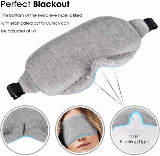 白菜价!历史新低!SemiShare 超柔软有机棉 睡眠眼罩+耳塞套装3.6折 4.79加元清仓!