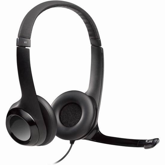 历史新低!Logitech 罗技 H390 居家上班上学必备 语音通话 电脑耳机麦克风4.2折 24.99加元!