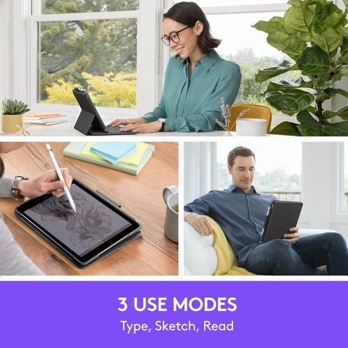 Logitech Slim Folio 一体式键盘保护套 7.7折 99.99加元,原价 129.99加元,包邮