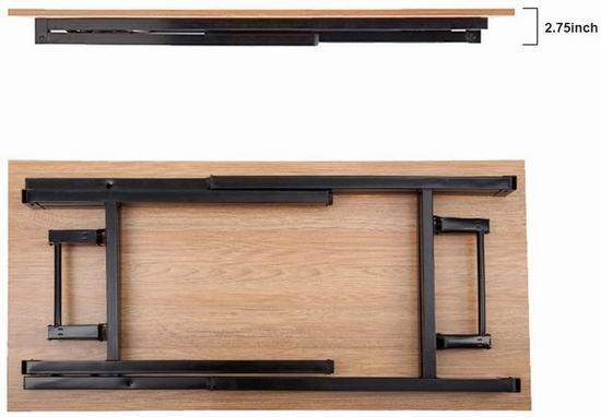 白菜价!历史新低!DlandHome 55英寸 可折叠电脑桌/书桌3.1折 49加元清仓并包邮!