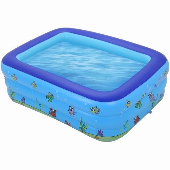 白菜价!历史新低!Satkago 59 x 43英寸 儿童充气游泳池2.8折 27.54加元包邮!