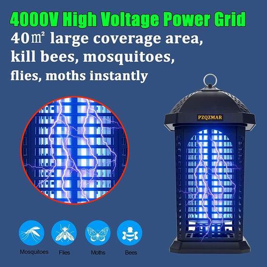 历史新低!Lukasa 4000V 25W 升级版 专业灭杀蚊蝇飞虫 高压强力灭蚊灯5.1折 43.99加元包邮!