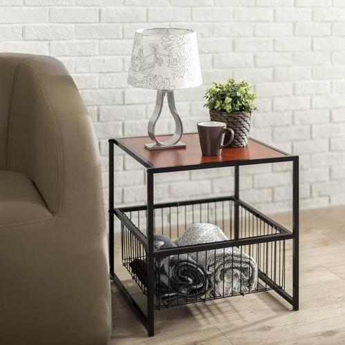 Zinus OLB-ET-2020W 20 英寸茶几/咖啡桌/床头柜 带金属储物篮 6.8折 37.2加元+包邮