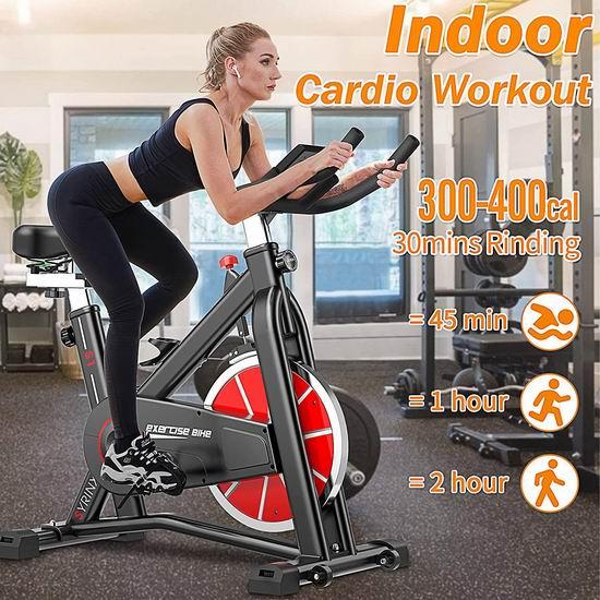 历史新低!SYRINX 35磅飞轮 家用动感健身自行车6折 297.97加元包邮!
