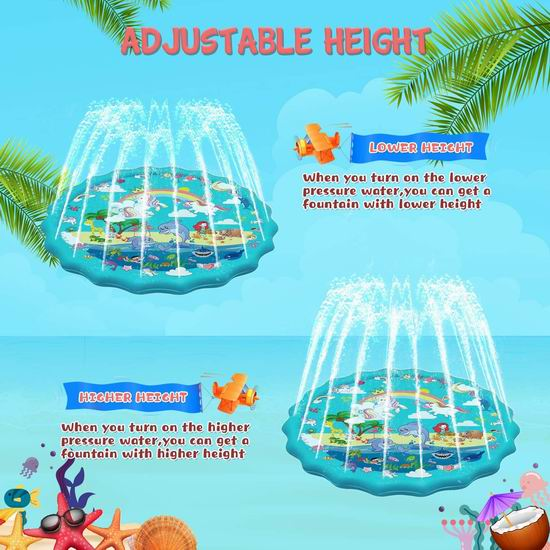白菜价!历史新低!CANPEKI 68英寸 加大号 喷水戏水垫 9.95加元清仓!