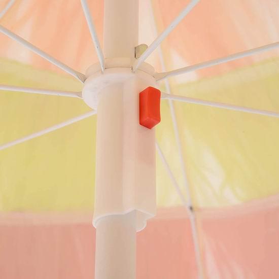 白菜价!历史新低!Outsunny 6英尺 可倾斜 沙滩庭院遮阳伞2.4折 19.5加元清仓并包邮!