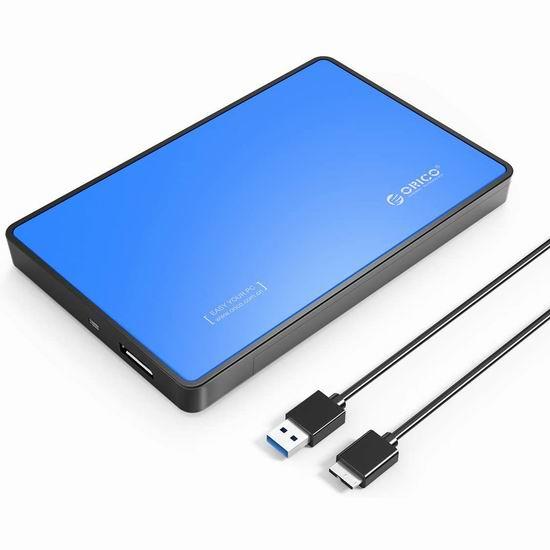 白菜价!历史新低!ORICO 2.5寸SSD固态硬盘 移动硬盘盒 8.99加元清仓!