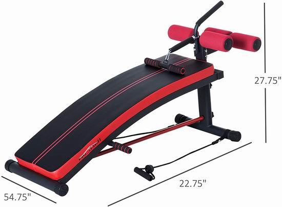 白菜价!历史新低!Soozier 仰卧起坐/俯卧撑/划船 多功能健身凳 52.49加元包邮!