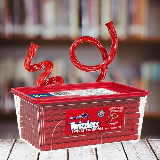 美国国民零食 Twizzlers 多乐滋 低脂肪低卡低糖 扭扭糖(2公斤)5.8折 11.59加元包邮!