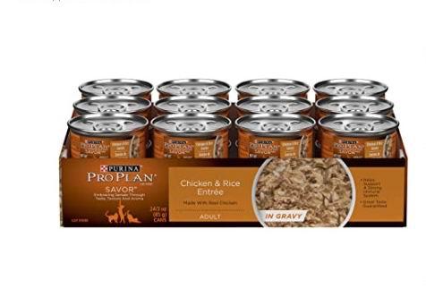 Pro Plan肉汁猫粮罐头24罐 鸡肉米饭配方 11.99加元,原价 25.55加元