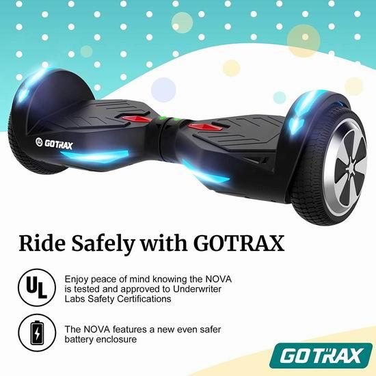 历史新低!GOTRAX NOVA 双电机 体感平衡车5.9折 137.49加元包邮!2色可选!