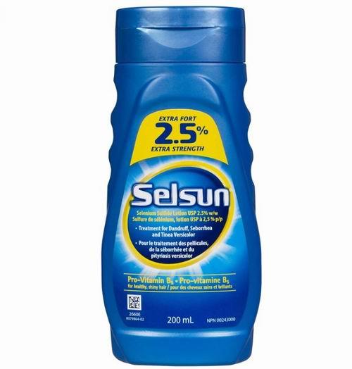 Selsun 2.5%超强硫化硒洗发水 深层去屑控油 含有维生素原 B5 200毫升 12.48加元