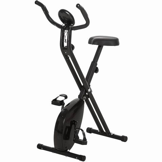 白菜价!拼手速!Soozier 可折叠磁阻健身自行车 67.49加元包邮!