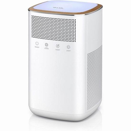 历史新低!VALKIA True 3M-HEPA 超静音家用空气净化器5折 55.49加元包邮!