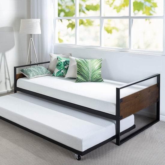 历史最低价!Zinus Suzanne Twin 二合一金属沙发床架 189.99加元包邮!比Walmart便宜167.76加元!