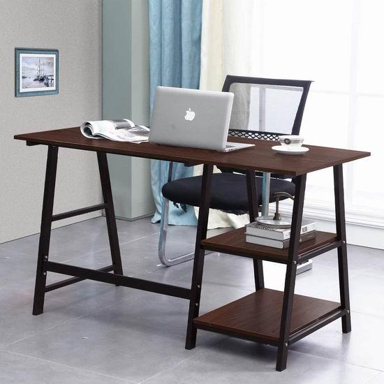 SogesGame 55英寸 时尚电脑桌/书桌4.6折 64.14加元限量特卖并包邮!