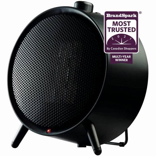 逆季清仓!历史新低!Honeywell HCE200BC 超便携陶瓷电取暖器 19.99加元!