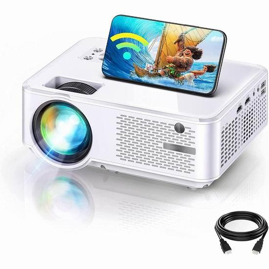 历史新低!ZilloRiver 7000流明 原生800P WiFi无线 家庭影院投影仪4.6折 78.99加元包邮!