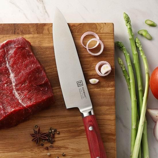 历史最低价!Keemake 极美 8英寸 德国高碳钢 主厨刀3.9折 19.99加元包邮!