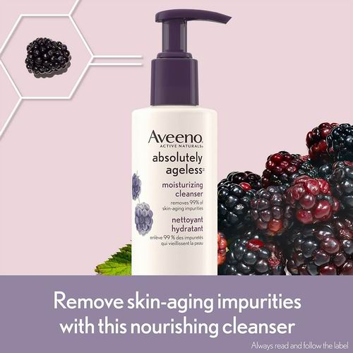 Aveeno 黑莓抗衰老保湿洗面奶 154毫升 7.04加元,原价 10.49加元