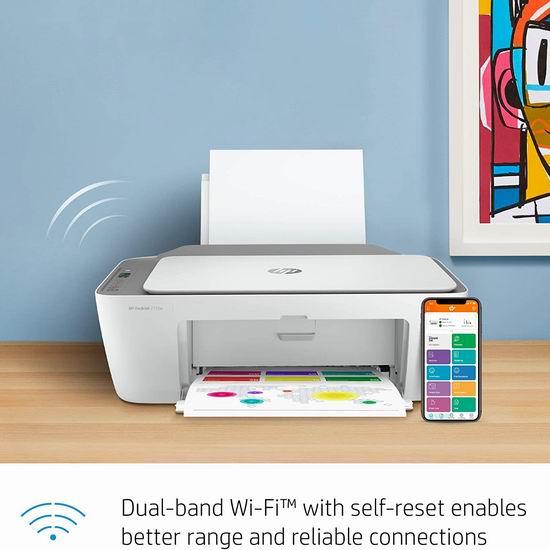 历史最低价!HP 惠普 DeskJet 2755e 多功能一体无线彩色喷墨打印机 89.99加元包邮!送半年墨盒!