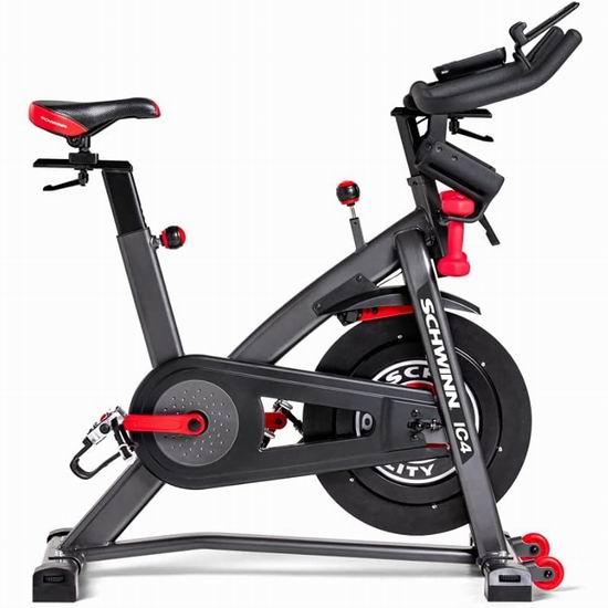 Schwinn IC4 室内动感健身自行车 998.98加元包邮!支持模拟实景骑行比赛!