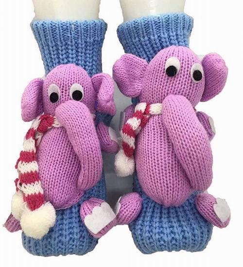 PreSox 超萌小象立体造型 防滑针织袜 9.99加元,原价 15.99加元