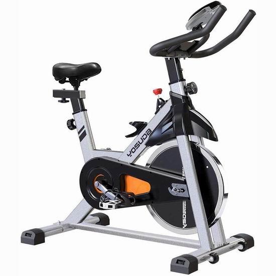 YOSUDA 35磅飞轮 家用动感健身自行车5.1折 305.99加元包邮!