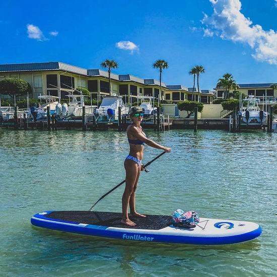 FunWater 军用级超轻PVC 11英尺加大 SUP充气站立式桨板 339.95加元限量特卖并包邮!