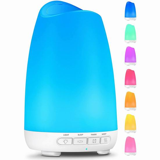 白菜价!历史新低!Voksady 150ml 8色LED 香薰雾化加湿器 9.99加元清仓!