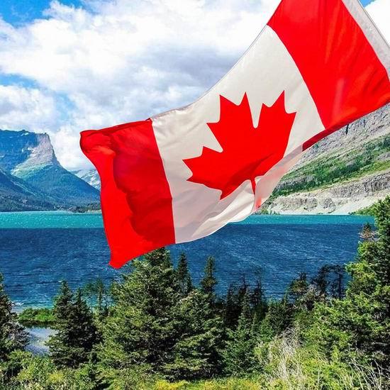 历史新低!Toptry 3 x 5英尺 大型加拿大国旗2件套 8.93加元!
