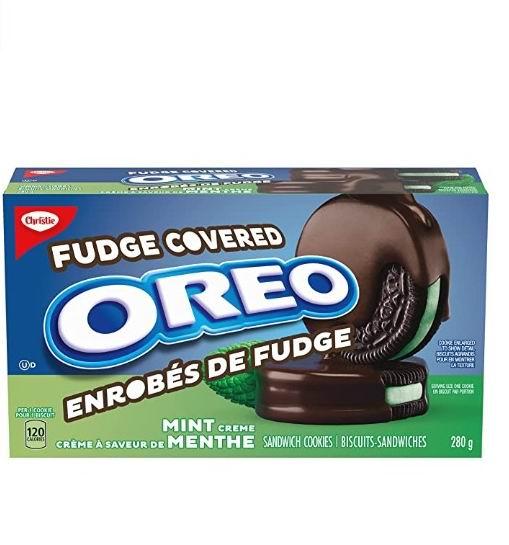 OREO奥利奥薄荷巧克力夹心饼干 2.77加元,2种口味可选!