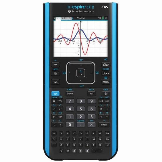 历史新低!Texas Instruments TI-Nspire CX II CAS 彩屏图形计算器 171.99加元包邮!