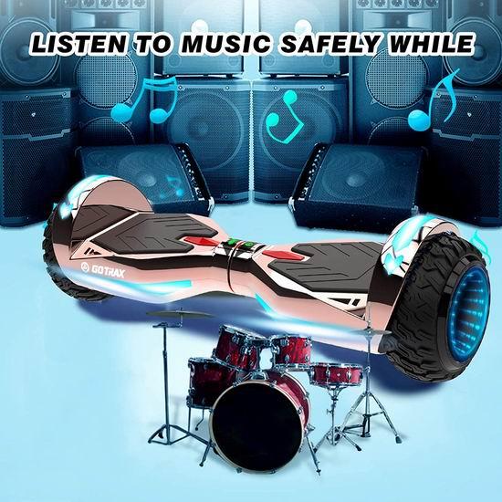 GOTRAX NOVA PRO 400W 双电机 高颜值炫酷LED 蓝牙体感平衡车5.4折 161.99加元包邮!2色可选!
