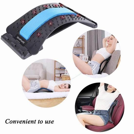 UniForU 加强版 护腰神器 腰椎牵引 脊椎拉伸按摩器 17.24加元!