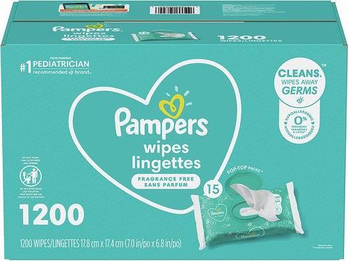 Pampers 帮宝适 Complete Clean 婴儿清洁湿巾 1200张 19.94加元包邮