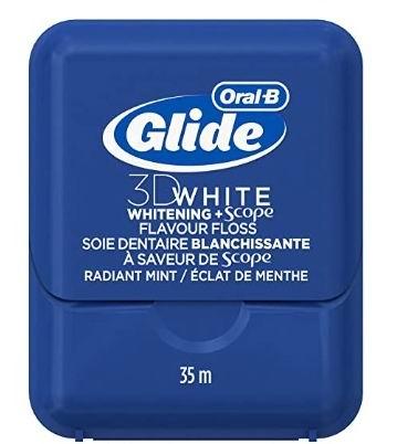 Oral-B Glide 3D 美白牙线 35米盒装 3.32加元