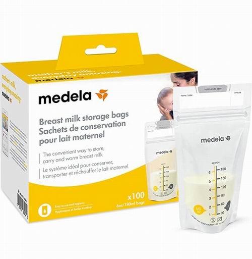 Medela Inc 母乳储存袋 100 个 20.97加元,原价 24.99加元