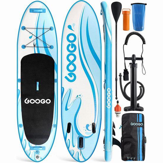 历史新低!GOOGO 10.6英尺超大 SUP充气站立式桨板6.4折 254.99加元限量特卖并包邮!