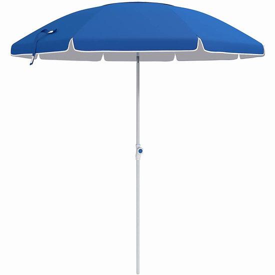 SONGMICS 7英尺 可倾斜 便携式太阳伞/沙滩遮阳伞6.2折 32.99加元!2色可选!